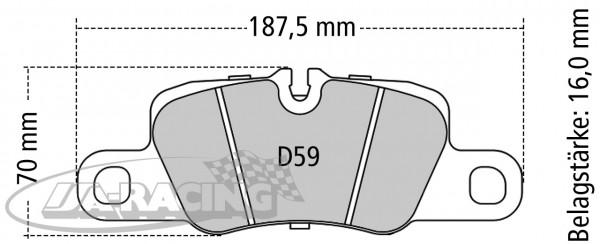 Pagid Bremsbelag RSC 1