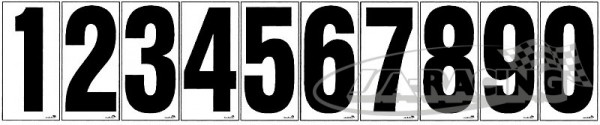 Einzelnummer, auf weißer Folie