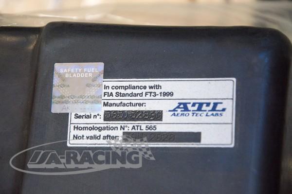 FIA-Label ATL mit Hologramm für FIA-geprüfte Tanks