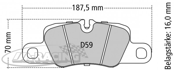 Pagid Bremsbelag RSL 1